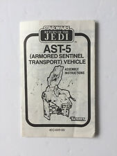 Star Wars Vintage AST-5 Armoured Sentinel Vehicles Instructions Original 1983