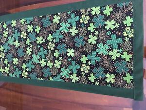 Shamrocks/St. Patrick's Day/Irish Table Runner New Handmade