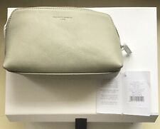 THE WHITE COMPANY-PEBBLEGRAIN SOFT GREY LEATHER WASH/TOILETRY BAG. NEW & UNUSED