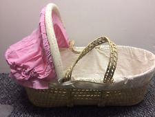 *SALE* WICKER MOSES BASKET FOR GIRLS DORMOUSE PICKLES&WHISKERS - NO MATTRESS- BN