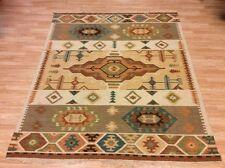 Authentic Tribal Handwoven Indian Flatweave Wool Kilim Rug XL 168x234cm 60 off