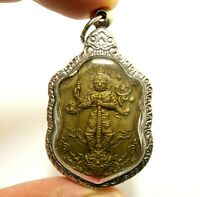 THAO WESSUWAN YAK ASURA WEALTHY KING LUCKY RICH THAI MIRACLE YANT AMULET PENDANT