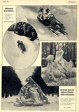 Sportschlitten mit Motor * Wintersport in der Schweiz * Bilddokumente 1907