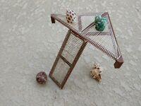 Hermit Crab Climbing Playground - Triangle Corner Platform with Ladder