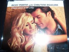 Ricky Martin With Christina Aguilera ‎– Nobody Wants To Be Lonely AUST CD Single