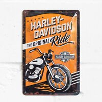 Harley Davidson Vintage Motorbike Wall Tin Sign 30cm Home Decor Plaque Gifts