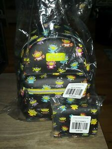 Loungefly Toy Story Alien mini backpack and card id holder,  NWT