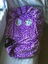 Baby Emporio Fancy Cover Shopping Cart Cover Purple Leopard Print