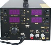 4 In1 110/220V 909D+ Rework Soldering Station Power Supply Hot Heat Air Gun 800W