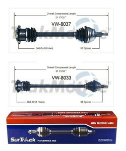 For 2000-2002 Audi TT Quattro Passenger Side New CV Drive Axle Shaft