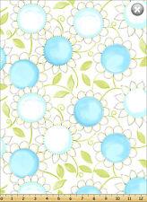 Susybee's blue & white Sunflowers 100% cotton 42