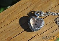 Silver Heart Pocket Watch Necklace Antique Charm Heart Shaped Watch Holiday Gift