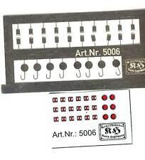 5006 Spur N  1x Zugschlußsignale Zg3+Zg4 geätzt und Beschriftung