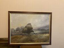 More details for original oil painting on board , farm landscape . framed   size 45x35cm