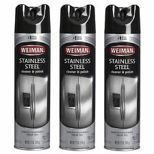 3Pk Weiman Stainless Steel Cleaner & Polish 17 oz
