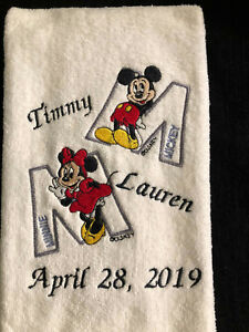 Mickey & Minnie - Monogramed - Personalized - Made To Order