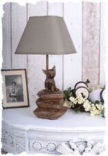 Lamp Chihuahua dog lamp dog sculpture lamp table fabric lampshade animal figure