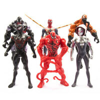 6PCS Marvel Avengers Venom Carnage Gwen Spider-Man Action Figure Model Set Toy