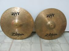 Pair Zildjian ZHT 14 in / 36 cm HiHat High Hat Top and Bottom Cymbals