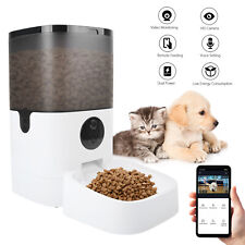 6L Smart Automatic Wifi Pet Feeder w/Camera 2-Way Audio 20 Portions 8 Meals