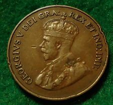 1922 Canada Small Cent King George V XF/AU * KEY DATE * No-Res CANADIAN
