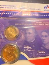 Zachary Taylor U.S. MINT PRESIDENTIAL $1 COIN & FIRST SPOUSE MEDAL SET