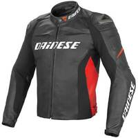"BLACK & RED ""DAINESE"" MOTORBIKE LEATHER RACING MOTOGP JACKET"