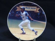 "1995 Sports Impressions Hank Aaron All-Time Home Run Man MLB 4"" Mini Plate 1227-"