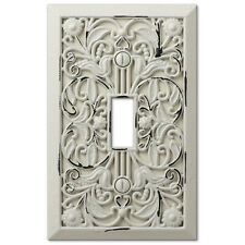 arabesque filigree antique white switchplate outlet cover wall switch plates