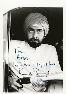 7 x 5  PHOTO   hand signed  KABIR BEDI   (BOND)  - AFTAL    DEDICATED