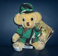"NWT 6"" Merrythought Cheeky Camouflage Mohair Teddy Bear Ltd Ed # 52 of 250 New"