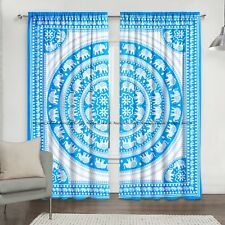 New Elephant Mandala Cotton Indian Hippie Curtains Window Balcony Door Treatment