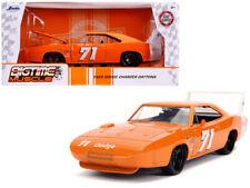 1969 Dodge Charger Daytona #71 Die-cast Car 1:24 Jada Toys 8 inch Orange