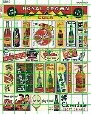 5010 DAVE'S DECALS VINTAGE SODA POP BOTTLE POSTERS SIGN ADVERTISING
