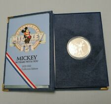 New listing Limited Edition .999 Silver 1 Troy Ounce Coin Mickey Mouse 60 Years Excellent