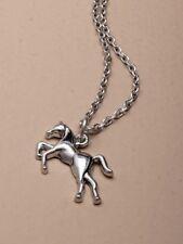 "15"" (38cm) Silver Horse Pendant Necklace Pendant - Horse Jewellery (J102)"