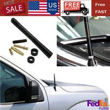 Screw 4.7 inches+ Car Antenna Carbon Fiber Radio FM Antena Kit Black USA Fast