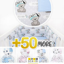 3 OR 5 PC BABY BEDDING- NURSERY BED SET fit COT 120X60 or COT BED140X70 BOY/GIRL