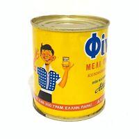 Attiki Oivo Pure Greek Honey Alex Pittas Co Athens 250 Grams Litho Can Vintage