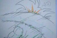 Original Goku Dragon Ball Z Cel DBZ Frieza Saga Anime Production Pencil Douga