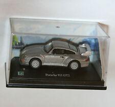 Cararama - PORSCHE 911 GT2 (Silver) Scale 1:72