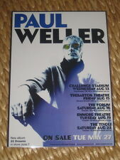 PAUL WELLER - 22 DREAMS  AUSTRALIAN  TOUR  -  PROMO TOUR POSTER