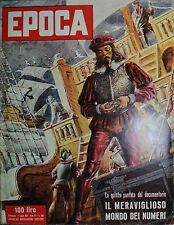 EPOCA N°300/ 1/LUG/1956 * INTERVISTA CON NENNI - LA MADONNA DELLE MARCHE