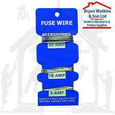 A Pack Of 3 Assorted Consumer Fuse Wires - 5, 15 & 30 Amp  Rewireable Fuses