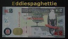 Zambia 2 Kwacha 2015 UNC P-56.
