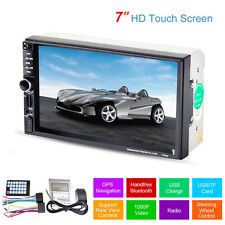"7 "" 2 DIN Auto MP5 MP3 Player Radio Stereo Touch Bluetooth GPS Navi FM TV + Fern"