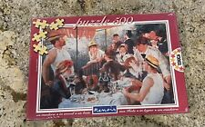 NIB Educa WOOD Jigsaw Puzzle Auguste Renoir Luncheon Of The Boating Party 500 Pc