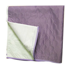 washable bed pads with flaps Lilac 78cm x 83cm