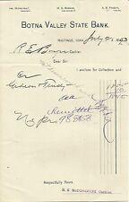 1893 Letterhead BOTNA VALLEY STATE BANK Hastings Iowa