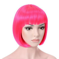 Fashion Sexy Short Bob Wig Anime Cosplay Party Straight Hair Cosplay Full Wigs